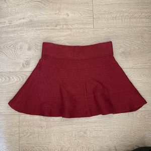 Aritzia Talula Red Burgundy Skater Skirt